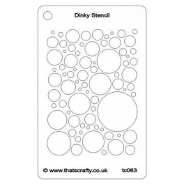 Thats-Crafty-Dinky-Stencil-Bubbly-All-Over-TC063
