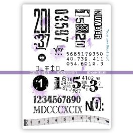 KTZ273 numbers rubber stamps